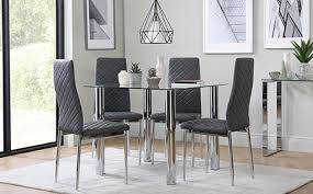 Glass Dining Table  Chairs Glass Dining Sets Furniture Choice - Glass dining room table set