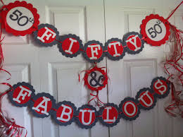 innovative homemade party decorations for 50th birthday indicates
