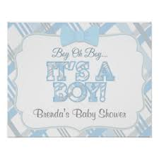 baby shower poster boy baby shower posters zazzle