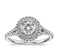 white engagement rings images Duet halo diamond engagement ring in 18k white gold 1 2 ct tw