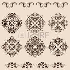 vector set of paterns borders for design filigree ornaments