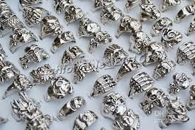 rings best price images Free best price rings skull carved biker men silver plated alloy jpg