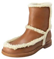 s boots with fur mm6 maison martin margiela s leather fur trimmed boots