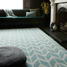 Kids Modern Rugs by Arlo Chevron Rugs Feature A Stylish Chevron Design In Blue And
