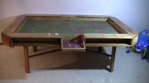 Gaming Table Complete YouTube - Board game table design