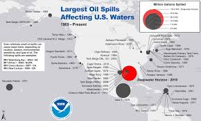 Santa Barbara California Map Largest Oil Spills Affecting U S Waters Since 1969 Response