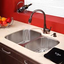 Bronze Faucets For Kitchen Bronze Faucet With Stainless Steel Sink Pictures