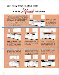 Kitchen Cabinets Measurements by 1953 Crane Kitchen Cabinets 26 Photos Complete Catalog Retro
