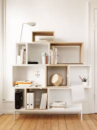 modern muuto stackable bookcase and bookshelf interior designer