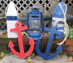 nautical decorations with two blue canoe paddle the love to the