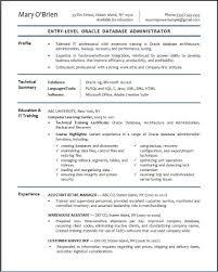 Server Experience Resume Examples Sql Server Dba Resume Sample Resume Examples For Oracle Dba