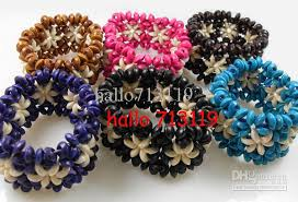 flower beads bracelet images 24x hawaii flower style wooden beads charms elastic bracelets cuff jpg