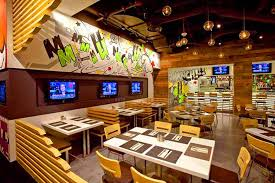 attractive interior design of munchbar restaurant las vegas bar