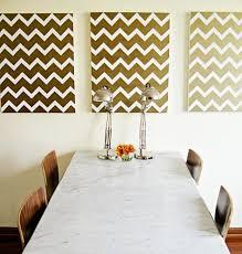 beautiful colorful diy chevron patterned brush painting canvas diy chevron room wall art