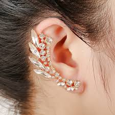 cuff earrings fashion clear ear cuff earrings women party jewelry gold