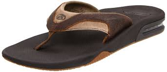 mens reef fanning flip flops sale nike reef trainers reef leather fanning sandal brown brown men s