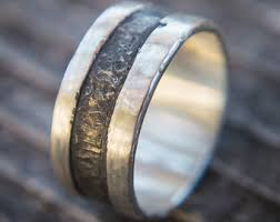mens wedding bands unique unique mens ring etsy