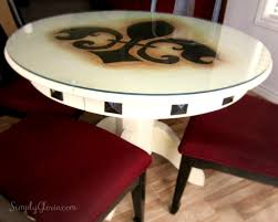 paint glass table top diy painted dining table simply gloria
