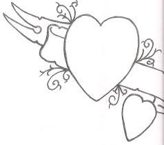 heart with banner tattoo designs