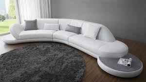 canap arrondi cuir canape arrondi cuir blanc canapé idées de décoration de maison