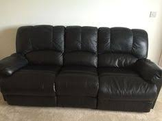 2 Seater Reclining Leather Sofa Leather Manual Reclining Sofas On Gumtree Selling One 3 Seater