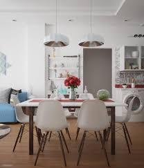 dining room colorful scandinavian dining room features gray dining