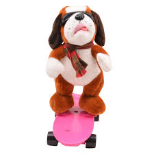 Singing Stuffed Animals Electronic Pets Cool Skateboard Dogs Singing