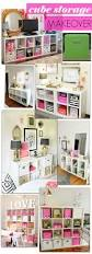 Diy Inexpensive Home Decor Diy Cube Storage Makeover Inspo Project Living Room Pinterest