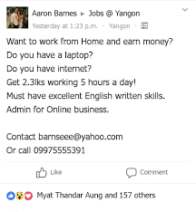 Jobs Barnes Myanmar Part Time Jobs Recruiter Yangon Facebook 44