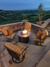 wicker land patio fire tables umbrellas and outdoor patio
