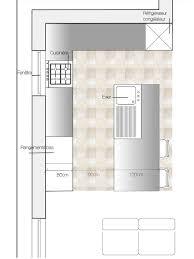 plan cuisine avec îlot central deco plan cuisine