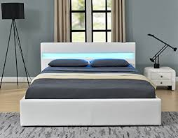 Led Bed Frame Romero Led Bed With Bluetooth Speakers Ottoman Gas Lift