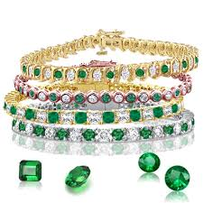 emerald diamond gold bracelet images See emerald tennis bracelets designes jewelry at png