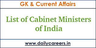 Portfolio Of Cabinet Ministers Of India List Of Union Cabinet Ministers Of India 2017 Pdf Current Affairs Gk