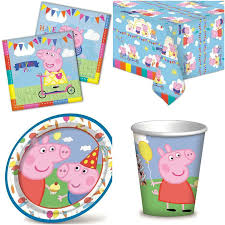 peppa pig party peppa pig party tableware supplies 8 16 24 guests birthday