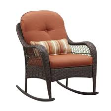 Brown Wicker Patio Furniture - outdoor wicker rocking chair with cushion patio furniture shop