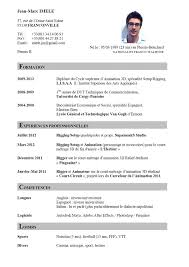 Curriculum Vitae Sample And Format by 28 Curriculum Vitae In French Fletcher Fran 231 Ois