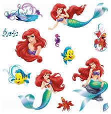 The Little Mermaid Bathroom Set Disney Little Mermaid Wall Stickers Glamour Ariel Decals