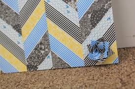 How To Use Washi Tape Taylor Stamped How To Make A Chevron Pattern From Washi Tape