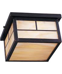 flush mount craftsman lighting maxim lighting 4059 craftsman 2 light outdoor flush mount lighting