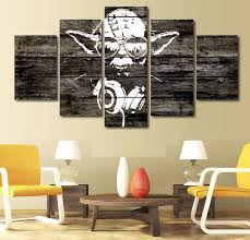 star wars living room 5 pieces star wars music master yoda wall art picture home