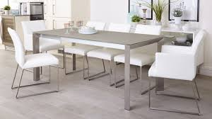 Grey Frosted Glass Dining Table Extending Dining Table UK - Glass for kitchen table