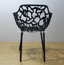 replica designer outdoor chairs aluminum graceful black color