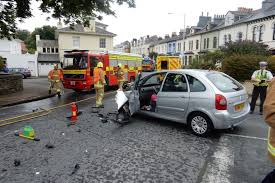 driver treated for shock after car crash energy fm isle of man