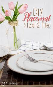 Valentines Day Tablescapes by Diy Tile Placemats Easy Idea For Valentine U0027s Day Tablescape And