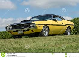 Dodge Challenger Yellow - dodge challenger rt editorial stock photo image 66323448