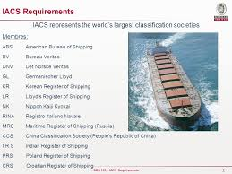 bureau of shipping abs iacs requirements ppt