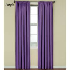Blackout Purple Curtains Kendall Bright Thermaback Tm Blackout Curtain Panels