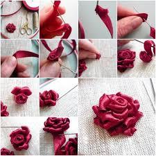 silk ribbon roses diy ribbon roses that look delicate and pretty