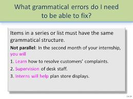 Help Desk Internship Editing For Grammar And Punctuation Ppt Online Download